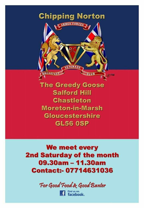 Oxon - Moreton in the Marsh - Veterans Breakfast Club @ The Greedy Goose | United Kingdom
