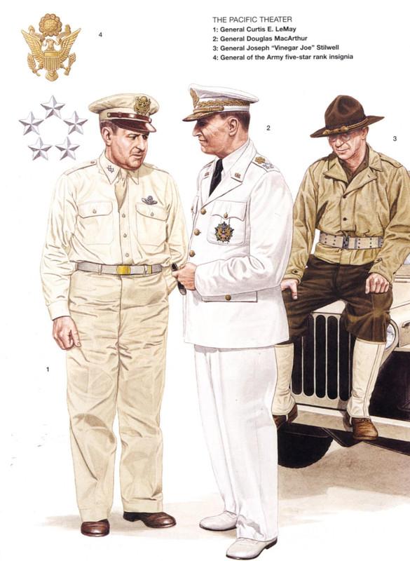 Comandantes Americanos durante la Segunda Guerra Mundial